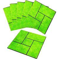 コモライフ 雑草が生えにくい芝生調マット6枚組 390200 1セット(6枚組)(直送品)