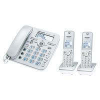 パナソニック デジタルコードレス電話機 VE-GD37DW-S 1台