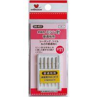 KAWAGUCHI 家庭用ミシン針#11 普通地用 5本入 08-451 1セット(4個)(直送品)
