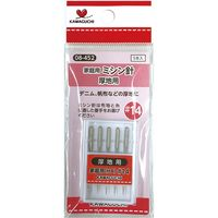 KAWAGUCHI 家庭用ミシン針#14 厚地用 5本入 08-452 1セット(4個)(直送品)