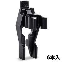 エスコ(esco) 12mm スプリングクリップ(6個) 1セット(60個:6個×10パック) EA661CG-12(直送品)