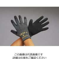 エスコ(esco) [M] 手袋(ポリエステル、綿・天然ゴムコート/黒) 1セット(20双) EA354GD-16A(直送品)