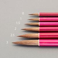 エスコ(esco) 1号 文字筆(馬毛) 1セット(15本) EA109MJ-1(直送品)