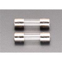エスコ(esco) 250Vx5.0A/φ10.3mm 管ヒューズ(2本) 1セット(20本:2本×10袋) EA758ZY-24(直送品)