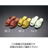エスコ(esco) [L] サンダル(抗菌衛生/カーキ) 1セット(10足) EA910SJ-2(直送品)
