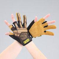 エスコ(esco) [L] 手袋・メカニック(革/ブラウン) 1セット(2双) EA353BY-233(直送品)