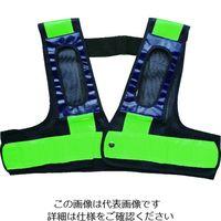 ミズケイ フルハーネス用安全ベスト「装着できるんです」<紺/緑> 5941107 1枚 195-2989(直送品)
