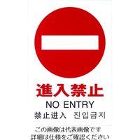 光(ヒカリ) 光 多国語ピクトサイン 進入禁止 TGP2032-5 1枚 195-0175(直送品)