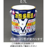 エスコ(esco) 0.7L [水性]多用途塗料(鉄・木部用/白) 1セット(4缶) EA942EB-11A(直送品)