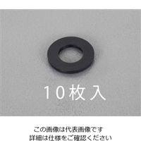 エスコ(esco) M12/13.0x24x2.5mm 平ワッシャー(TPR製/黒/10枚) EA949ZB-121(直送品)