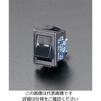エスコ(esco) 125V/12A ロッカースイッチ(黒) 1セット(40個) EA940DH-8(直送品)