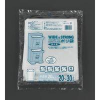 エスコ(esco) 20-30L ごみ袋(マチ付/半透明/20枚) 1セット(600枚:20枚×30パック) EA995AD-231(直送品)
