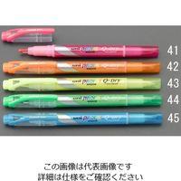 エスコ(esco) [グリーン/太・細] 蛍光ペン 1セット(50本) EA765MH-44(直送品)