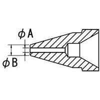 エスコ(esco) φ0.8/φ1.8mm 交換用ノズル(EA323MA-1用) 1セット(4個) EA323MA-14(直送品)