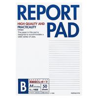コクヨ キャンパス レポートパッド 表紙巻きタイプ A4 B罫6mm 50枚 レ-725B 1セット(10冊)(直送品)