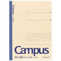 コクヨ 再生紙キャンパスノート6号 セミB5 30枚 B罫 35行 ノ-E3BN 1セット(10冊)(直送品)