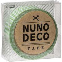 KAWAGUCHI ヌノデコテープ 1.5cm×1.2m みどりチェック 11-845 1セット(3個)(直送品)