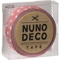 KAWAGUCHI ヌノデコテープ 1.5cm×1.2m うすべに水玉 11-850 1セット(3個)(直送品)