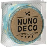 KAWAGUCHI ヌノデコテープ 1.5cm×1.2m みんとカラフルハート 11-853 1セット(3個)(直送品)