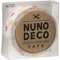 KAWAGUCHI ヌノデコテープ 1.5cm×1.2m しろいカラフルハート 11-852 1セット(3個)(直送品)