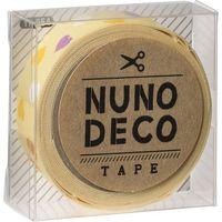 KAWAGUCHI ヌノデコテープ 1.5cm×1.2m きいろカラフルハート 11-854 1セット(3個)(直送品)