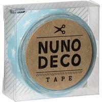 KAWAGUCHI ヌノデコテープ 1.5cm×1.2m みずいろスター 11-857 1セット(3個)(直送品)
