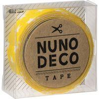 KAWAGUCHI ヌノデコテープ 1.5cm×1.2m きいろスター 11-858 1セット(3個)(直送品)