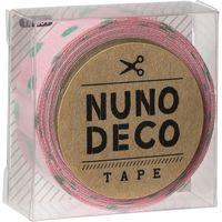 KAWAGUCHI ヌノデコテープ 1.5cm×1.2m すももとはっぱ 11-861 1セット(3個)(直送品)