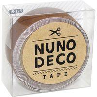 KAWAGUCHI ヌノデコテープ 1.5cm×1.2m ナッツ 15-225 1セット(3個)(直送品)