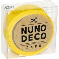 KAWAGUCHI ヌノデコテープ 1.5cm×1.2m つみきのきいろ 15-228 1セット(3個)(直送品)