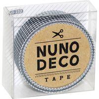 KAWAGUCHI ヌノデコテープ 1.5cm×1.2m ハンサムな千鳥柄 15-232 1セット(3個)(直送品)