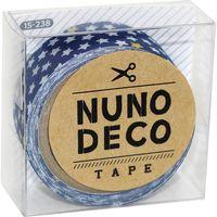 KAWAGUCHI ヌノデコテープ 1.5cm×1.2m ちいさなスター あお 15-238 1セット(3個)(直送品)