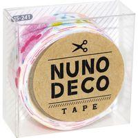 KAWAGUCHI ヌノデコテープ 1.5cm×1.2m 森のうた ももいろ 15-241 1セット(3個)(直送品)
