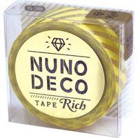 KAWAGUCHI ヌノデコテープ リッチストライプ 1.5cm×1.2m イエロー 15-286 1セット(2個)(直送品)