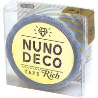 KAWAGUCHI ヌノデコテープ リッチストライプ 1.5cm×1.2m ブルー 15-288 1セット(2個)(直送品)