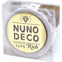 KAWAGUCHI ヌノデコテープ リッチドット 1.5cm×1.2m ホワイト 15-292 1セット(2個)(直送品)
