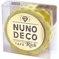 KAWAGUCHI ヌノデコテープ リッチドット 1.5cm×1.2m イエロー 15-294 1セット(2個)(直送品)