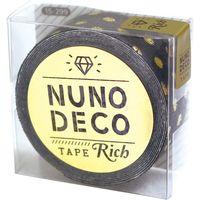 KAWAGUCHI ヌノデコテープ リッチドット 1.5cm×1.2m グレー 15-299 1セット(2個)(直送品)