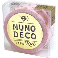 KAWAGUCHI ヌノデコテープ リッチドット 1.5cm×1.2m ピンク 15-298 1セット(2個)(直送品)