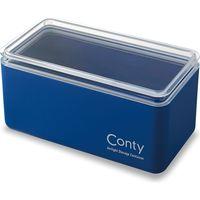 パッキン付き抗菌収納ケース Conty クラシックブルー I-597 4個 伊勢藤(直送品)