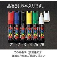 エスコ(esco) [赤/太字] 水性マーキングペン(5本) 1セット(25本:5本×5箱) EA765MK-21(直送品)