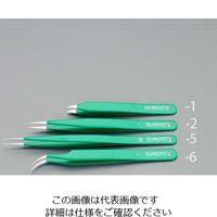 エスコ(esco) 0.34x0.14x120mm 精密用ピンセット(ステンレス製) 1セット(2本) EA595GM-6(直送品)