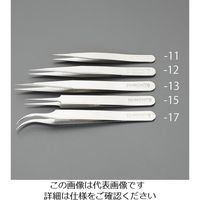 エスコ(esco) 0.17x0.10x110mm 精密用ピンセット(非磁性合金 1セット(2本) EA595GM-12(直送品)