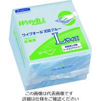 日本製紙クレシア クレシア ワイプオール X50ブルー Lサイズ 6つ折り 60654 1ケース(900枚) 195-0931(直送品)