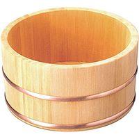ヤマコー さわら湯桶 銅タガ 丸型 82674 1個(直送品)