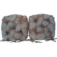 川島織物セルコン ダイニングシートクッション 幅410×奥行390×高さ80mm LN1099 ブラウン 1セット(2個入)(直送品)