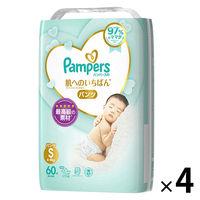 パンパース おむつ パンツ S(4〜8kg) 1箱(60枚入×4パック) 肌へのいちばん スーパージャンボ P&G