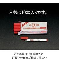エスコ(esco) [赤/細字] 油性マーカー(10本) 1セット(100本:10本×10箱) EA765MJ-41(直送品)