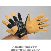 エスコ(esco) [S] 手袋・メカニック(合成革/黒・ブラウン) 1セット(2双) EA353BY-321(直送品)
