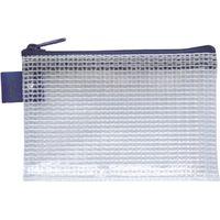 セキセイ アゾン メッシュケース ミニ B8 カードサイズ ブルー AZ-130-10 5冊(直送品)